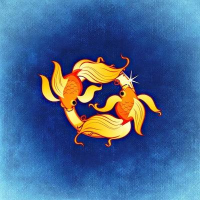 Illustration av stjärntecknet Fiskarna