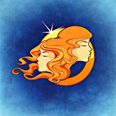 Illustration av stjärntecknet Tvillingarna