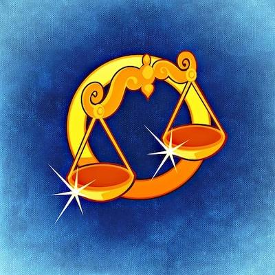 Illustration av stjärntecknet Vågen